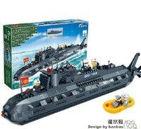 6201 502pcs Military Submarine Warships U boat Blocks Educational Model Building Toy Boy Children Kids Bricks Gift lepin