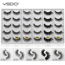 лучшая цена YSDO 5 pairs mink eyelashes natural lashes hand made 3d faux mink lashes dramatic eyelashes cilios mink 3d false eyelashes G7