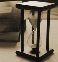 מכירות חמות בעבודת יד מודרני עץ 60 דקות 1 שעה צבע חול שעון חול שעון חול טיימר שעון חג המולד צעצועי בית דקור
