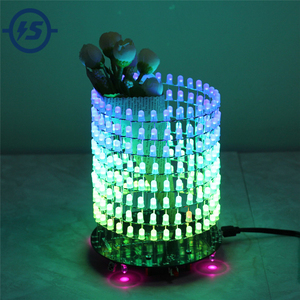 Image 1 - Светодиодный RGB светильник Dream Circle, DIY Kit, модуль музыкального спектра 8х32, электронный Точечный светильник, забавный светодиодный светильник, электронная матрица DIY