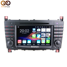 1024*600 Quad Core Android 7.1.2 Coches Reproductor de DVD Para Mercedes Benz C CLK CLS Clase CLC W203 W209 W219 Radio GPS 2 GB RAM 32 GB ROM