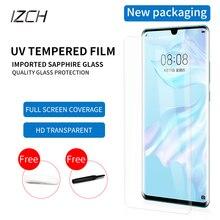 En iyi cam ekran koruyucu için Huawei p30 pro P30pro temperli UV cam tam tutkal kenar kenar ışığı temperli cam koruyucu