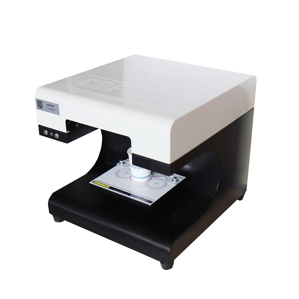 2 cups Selfie Latte Coffee Printer/Commercial Coffee Foam Printing Machine with edible ink