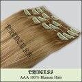 """20 """" - 26 """" Remy cabelo clipes retas em extensões de 105 g Ash Blonde # 18"""