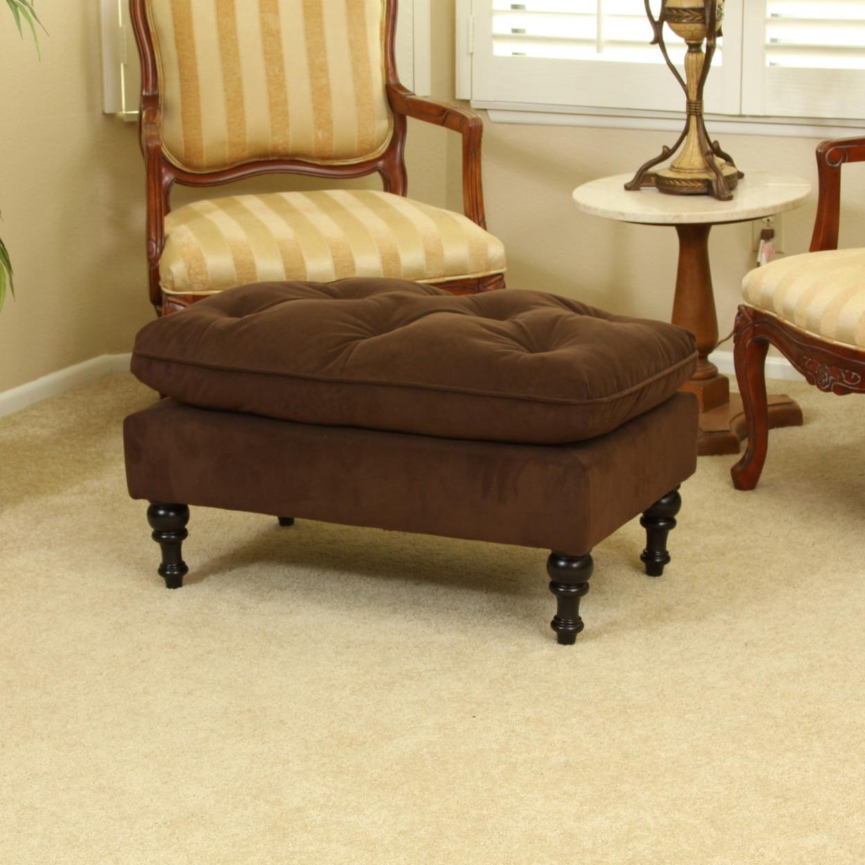 Cordoba Royal Design Chocolate Brown Ottoman Footstool