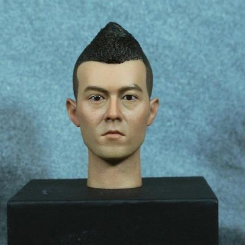 Mnotht 1/6 Asian Male Head Sculpt Edison Chan Famous Star Head Carving Model For 12in Action Figures l30 mnotht 1 6 male solider new clown head carving mj12 top edition heath ledger head sculpt for 12in action figures l30