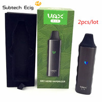 2pcs Lot Electronic Cigarette VAX Air Herb Vaporizer Starter Kit Temperature Control Dry Herb Pen With