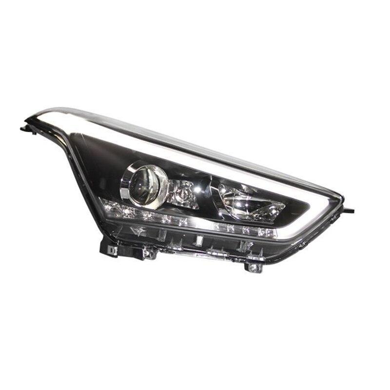 все цены на Drl Neblineros Para Auto Assessoires Side Turn Signal Led Styling Accessory Headlights Rear Car Lights Assembly For Hyundai Ix25