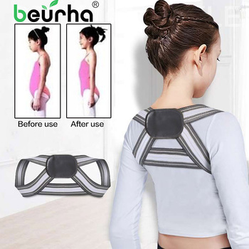 Shoulder Back Brace Support Belt Adjustable Posture Corrector Clavicle Spine Lumbar Posture Correction For Children kids adult