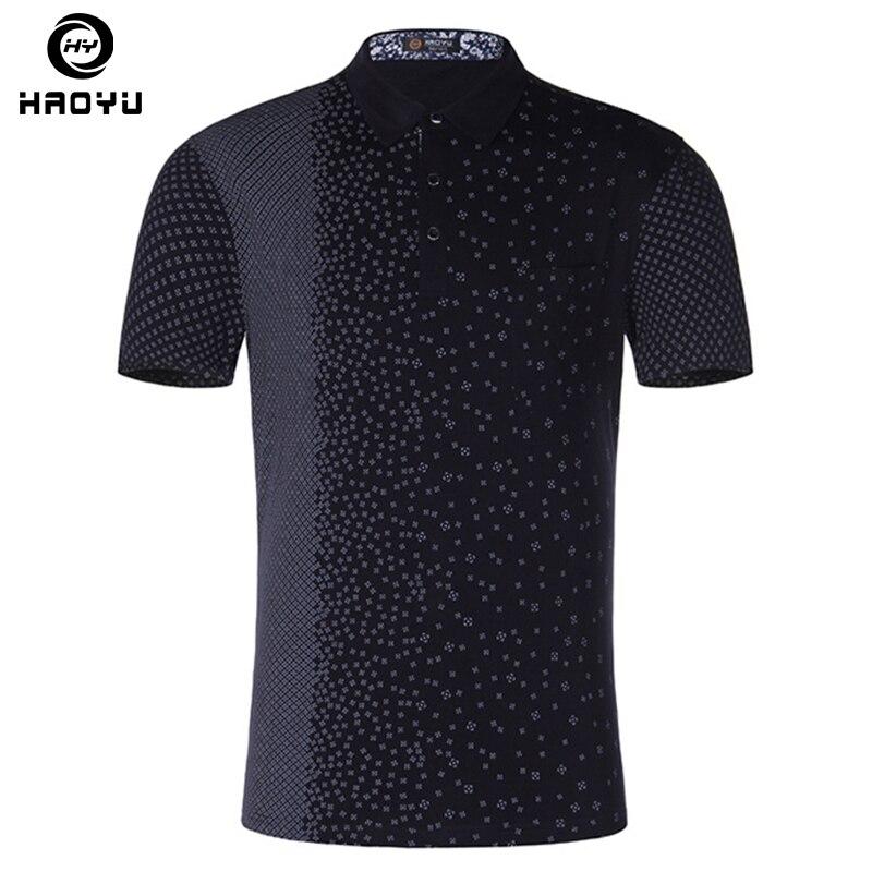 높은 품질 남자의 폴로 셔츠 코 튼 패션 인쇄 Anti-Pilling 셔츠 폴로스 여름 브랜드 의류 반 슬리브 캐주얼 플러스 크기