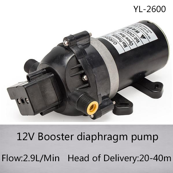Yl 2600 12v electric booster diaphragm pump with 29lmin flow and yl 2600 12v electric booster diaphragm pump with 29lmin flow and 20 40m head of delivery in pumps from home improvement on aliexpress alibaba group ccuart Gallery