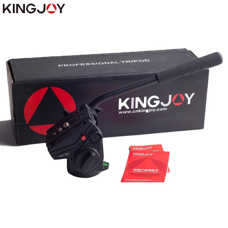 KINGJOY VT-3510 officielle tête de trépied panoramique tête vidéo fluide hydraulique pour trépied monopode support de caméra support Mobile SLR DSLR - 6