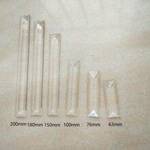 10 шт./лот, шлифовальный станок, прозрачный треугольник, кристалл, призма, люстра, Кристалл с 1 или 2 отверстиями, аксессуары для занавесок для дома