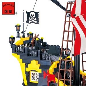 Image 4 - 870 + шт., Детский конструктор «пиратский корабль»