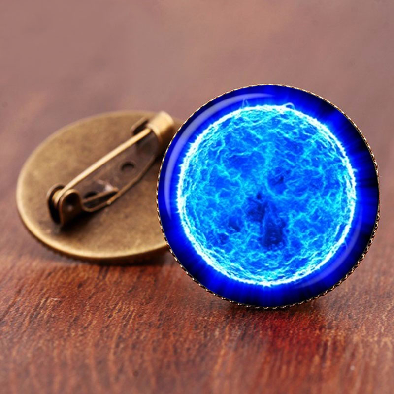 SUTEYI 2017 Sale Charming Astronomy Geek Jewelry Sci-fi Science Galaxy Brooch Gift Wholesale Outer Space Nebula Pture Brooches 1