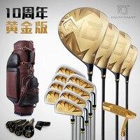Pgm Brand Tenth Anniver Sary Golf Compiete Clubs Sets of Rods Men's Sets Bar GOLF Men Gold Sets Titanium Alloy Head Carbon Shaft
