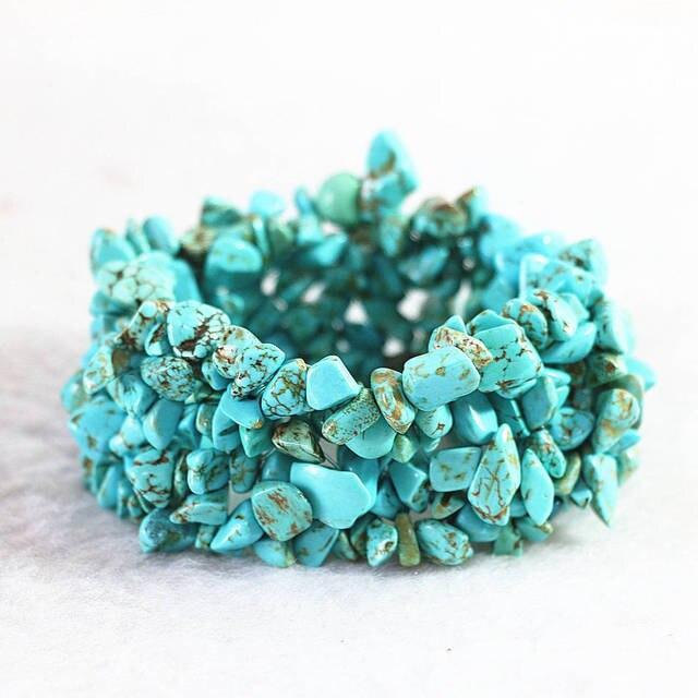 Fashion black veins calaite turquoises stone 9x11mm Irregular gravel beads diy B