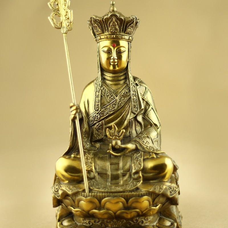 Mount Jiuhua monk pure copper Buddha Ksitigarbha Bodhisattva statue opening the light Buddhist supplies Buddha figure