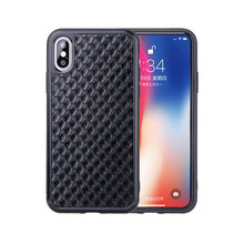For iPhone7 7 Plus 8 8 Plus X XS MAX XR XS Phone Case Fitted Genuine Leather Case Men Women Wateproof Business Fishscale Pattern все цены