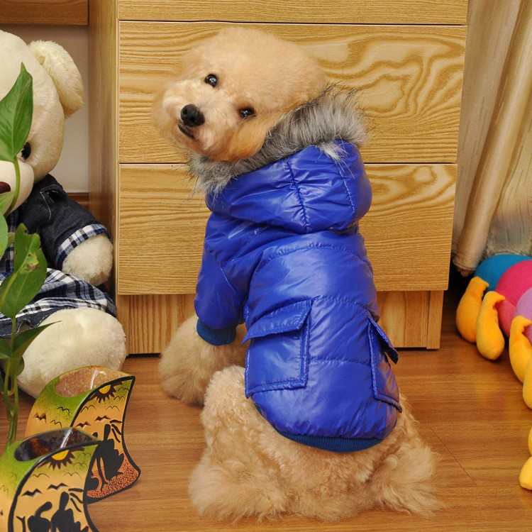 US $7 47 15% OFF|North Dog Jacket and Coat Cotton Winter Face Pet Hoodie  Dog Coat/Clothing Pet dog clothes Free Shipping-in Dog Hoodies from Home &