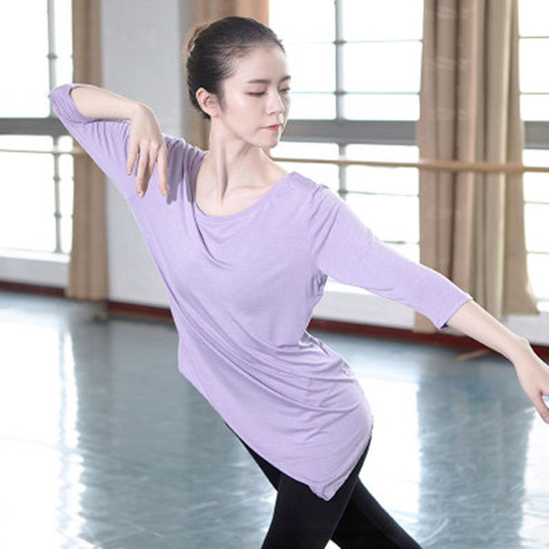 professional-font-b-ballet-b-font-dance-tops-for-women-adult-long-sleeve-o-neck-modern-dance-wear-girls-4-color-ballroom-practice-clothes