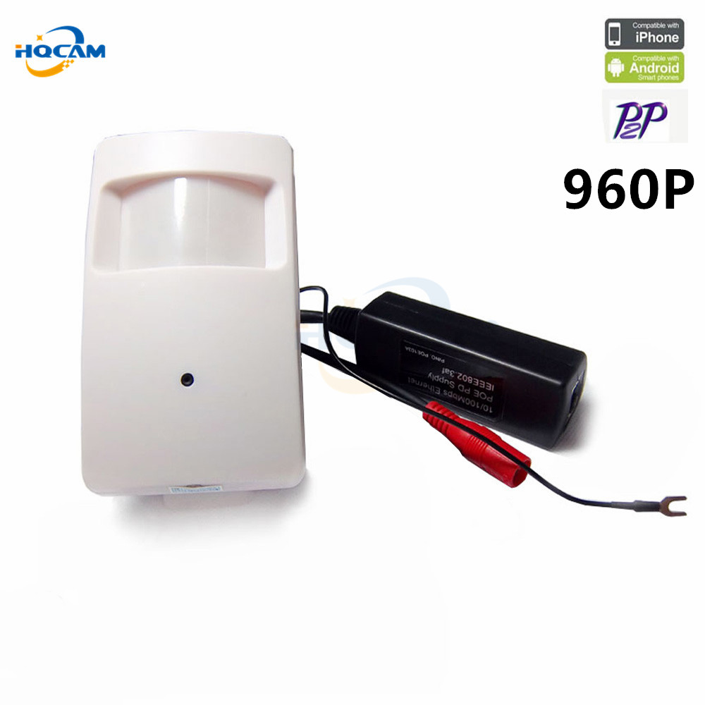 Hqcam 960 P мини IP Камера PIR Стиль 1.3mp ONVIF P2P plug and play мини ПИР Камера мини POE IP камера сети ip Камера POE CCTV
