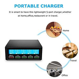 Image 5 - QC 3.0 Quick Charger Portable Multi 5 Port USB LCD Display 50W Fast Carregador For Iphone Xiaomi HuaWei Power Bank