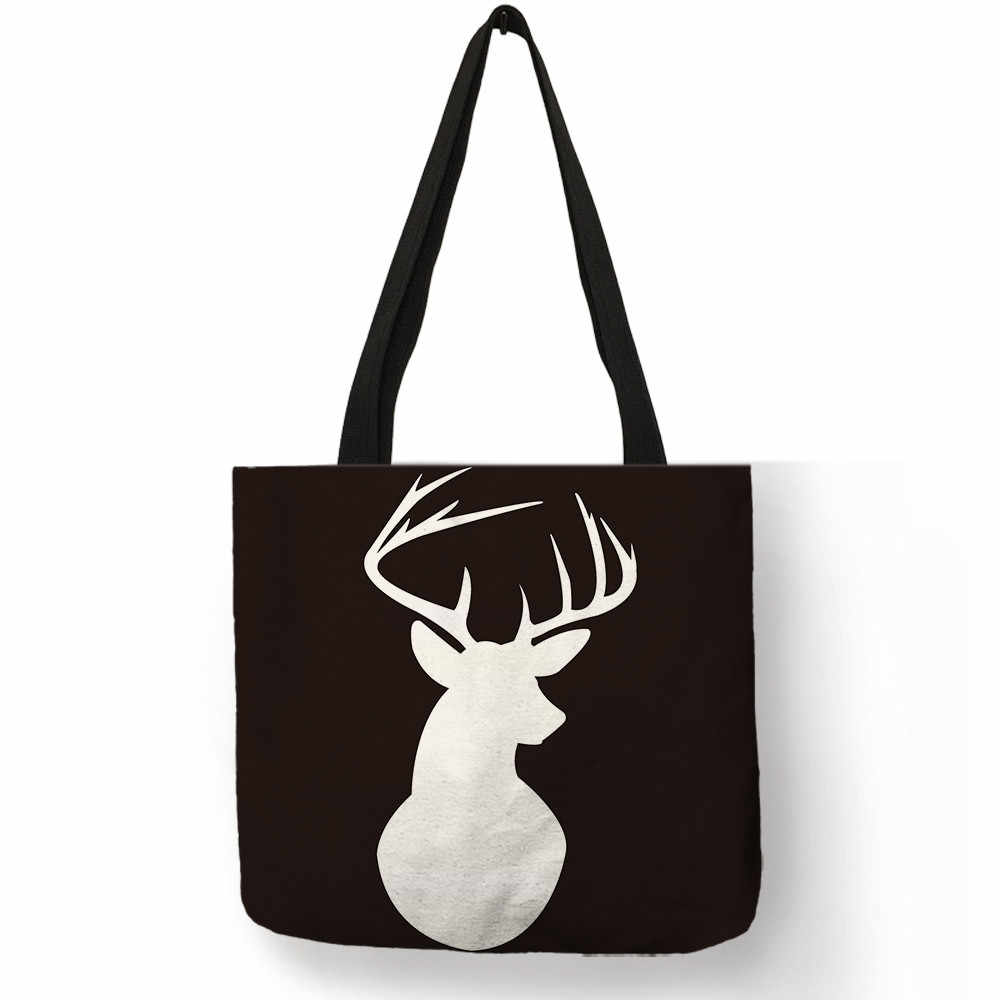 Хорошее качество белье ручной работы Для женщин сумки Геометрия узор в клетку олень, Лось сумка с принтом модные школьников сумка