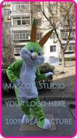 cute easter light green rabbit bunny Mascot costume custom fancy costume anime cosplay kits mascotte cartoon theme fancy dress