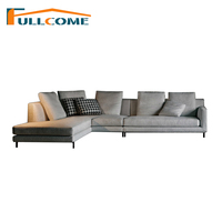 China Luxury Sofas Modern Furniture Fabric Scandinavian Sofa Korean Living Room Furniture Feather Italian Corner Sectional Couch