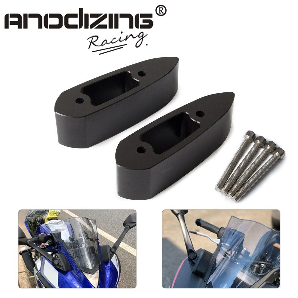 Крепление на руль мотоцикла Зеркало Riser удлинитель адаптер Комплект для Yamaha YZF-R3 YZF-R25 YZF R3 R25 2014 2015 16-18