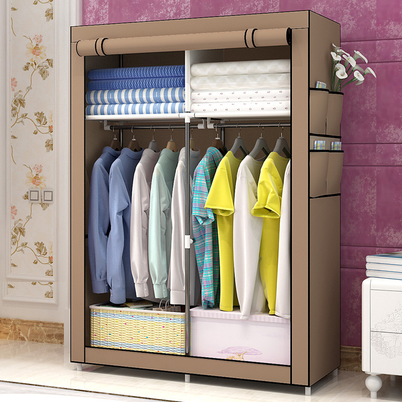 DIY Non-woven simple wardrobe Storage Organizer closet furniture Cabinet bedroom furniture Folding Reinforcement cupboard hot sale non woven assembled wardrobe closet clothes storage cabinet wardrobe modern bedroom furniture wardrobe closet