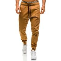 Men Joggers 2017 New Casual Pants Men Brand Clothing High Quality Spring Long Khaki Pants Elastic