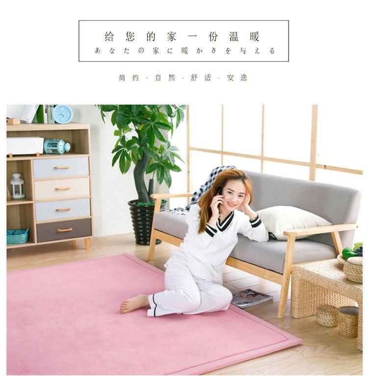 Baby Play Mat Coral Velvet Antiskid Design Crawling Mat  Baby Carpet Mat for Children Game Pad Super Soft Comfortable Playmat  (21)