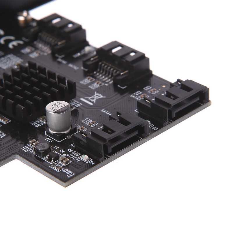 PCI Express 1x do 4-Port Sata 3.0 6G ekspansji karta kontrolera Marvell 88SE9215