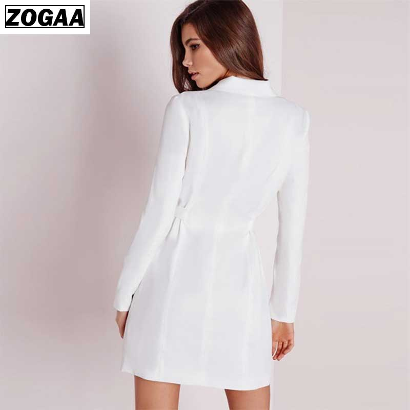 ZOGAA 2019 New Women Business Suits Spring Autumn All-Match Women Blazer Jackets Short Slim Long-Sleeve Blazer Women Suit