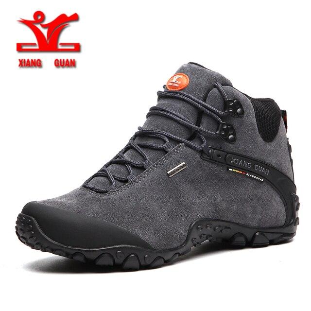 xiangguan 2017 winter men Climbing boots outdoor hiking shoes for men anti slip sport shoes resistant Sneaker man trekking shoes