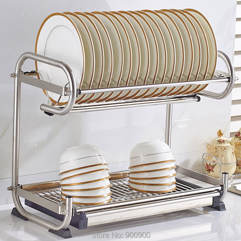 ... 304 Stainless Steel Dish Rack, Kitchen Rack, Kitchen Shelf U0026 Storage  Can Hang Wall