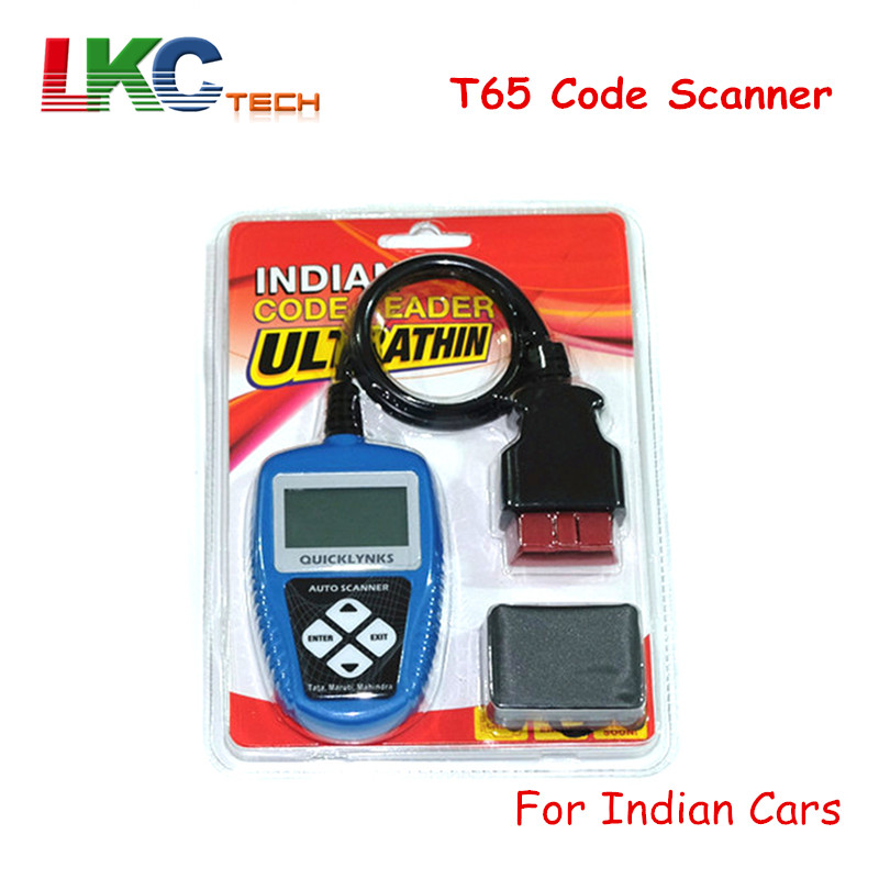 2018 A+Quality T65 Code Scanner Auto Car Scanner for Indian cars T65 Indian OBDII OBD2 Auto Code reader for Tata/Maruti