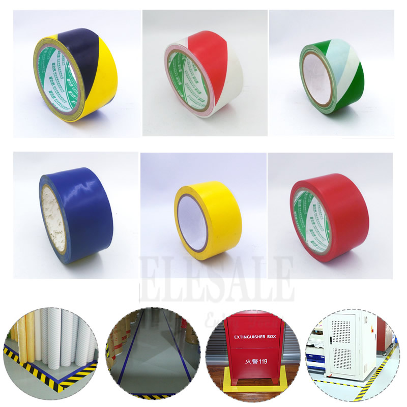 High Quality 1 Roll 48mm*18m Waterproof PVC Warning Tape Anti-Skid Caution Barrier Safety Tapes For Warehouse Factory School