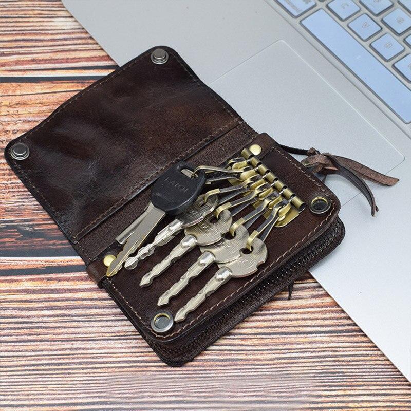 bolsa duplo zíper porta chave carteiras do