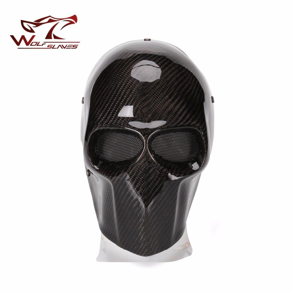 Accessoires de chasse Clothinig masque de flèche verte masque de tueur intégral en Fiber de carbone airsoft CS masque de sport et cosplay Halloween