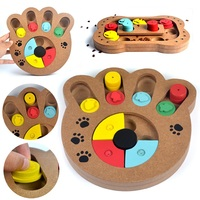 Holz Haustier Hund IQ Ausbildung Interactive Toy Mayitr Hund Welpen Spiel Food Dispensing Puzzle Plate Spielzeug Hund Zubehör