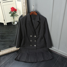 HIGH QUALITY New Fashion 2017 Runway Style Women's Buttons Double Breasted Jacquard Jacket Patchwork Long Outerwear