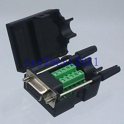 все цены на  Connector DB9 9pin jack pin D-SUB Terminal Board Plastic Cover solderless screw  онлайн