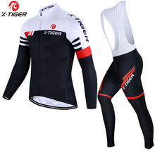Bicycle Clothing Cycling-Jersey-Set Bike-Wear Ciclismo Ropa-Maillot X-Tiger MTB Long-Sleeve
