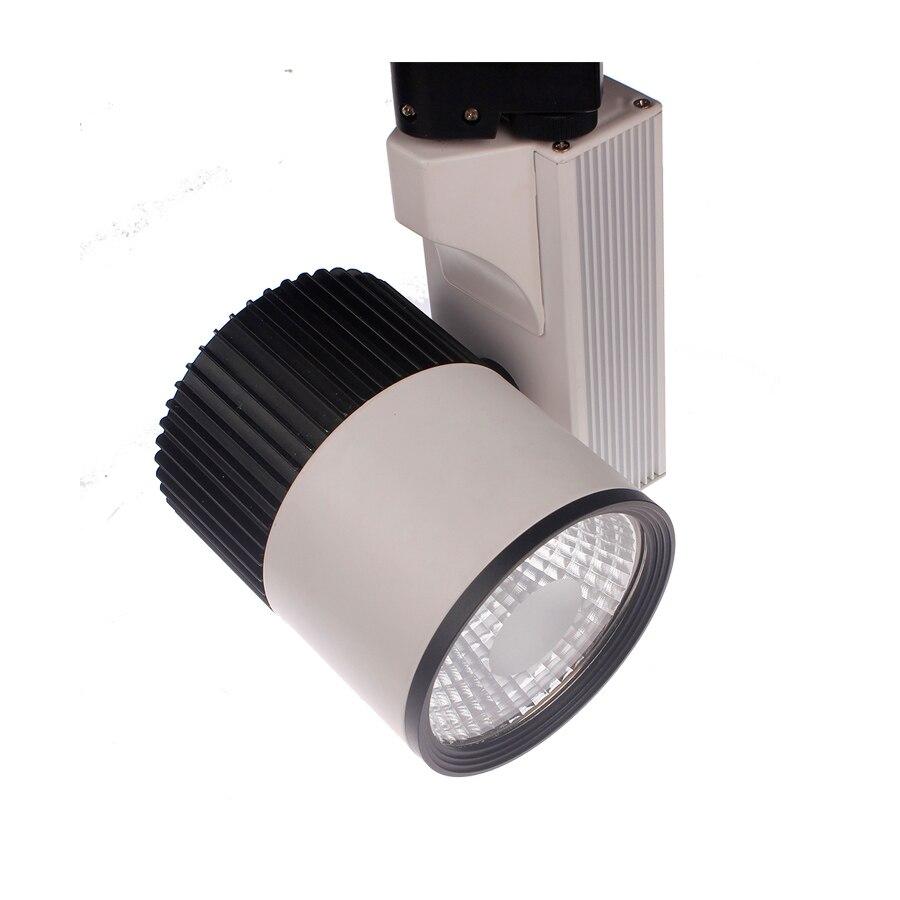 ФОТО 30w led guide rail Surface mounted lights spotlights cob lighting 30w led track light perfect metal halide lamp AC 85-265V