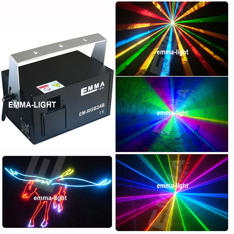 1 5W RGB Laser show Projector Full Color compact ILDA 30kpps 40kpps