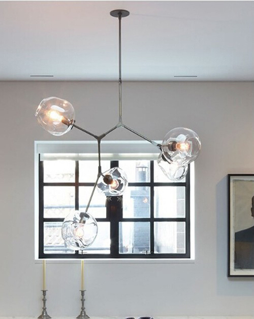 Lindsey Adelman Globe Branching Bubble Chandelier Modern Light Lighting Included Led Dimmable Bulbs Free