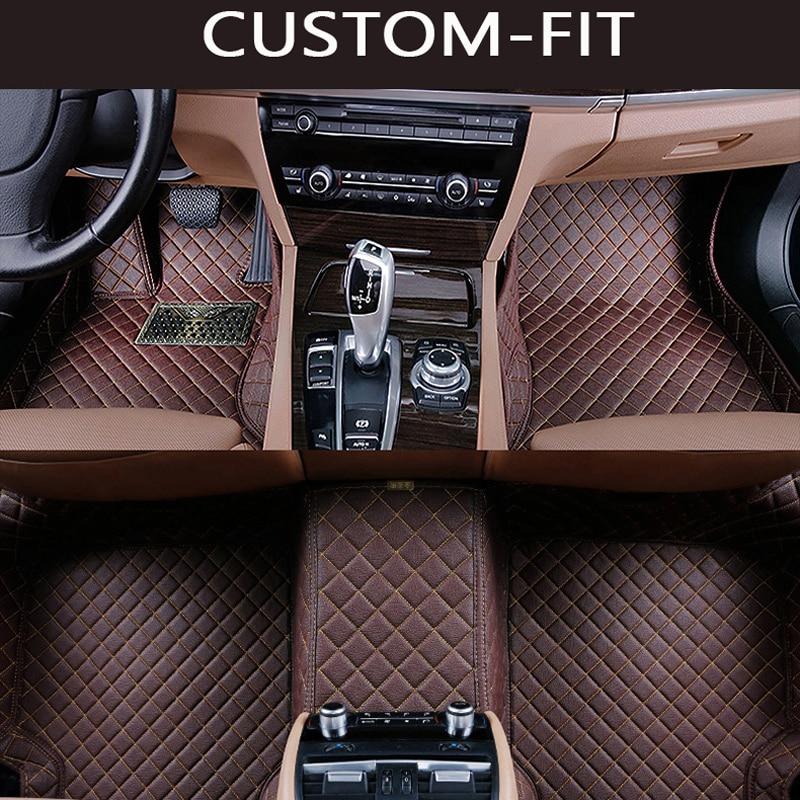 Custom fit car floor mats for Hyundai ix35 Elantra Santa Fe Sonata Tucson 2016 Solaris Accent 3D car-styling liner full coverage 2x for hyundai solaris accent tucson i30 ix35 santa fe elantra 9012 9003 h4 9004 9005 h7 h11 led headlight bulb fog lamp 16000lm